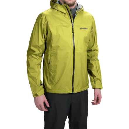 Columbia Sportswear EvaPOURration Omni-Tech® Jacket - Waterproof  (For Men) in Chartreuse - Closeouts