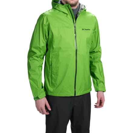 Columbia Sportswear EvaPOURration Omni-Tech® Jacket - Waterproof  (For Men) in Cyber Green - Closeouts