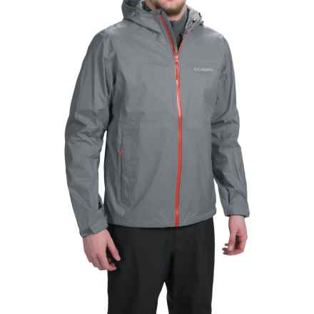 Columbia Sportswear EvaPOURration Omni-Tech® Jacket - Waterproof  (For Men) in Grey Ash - Closeouts