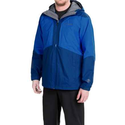 Columbia Sportswear Evergreen Omni-Tech® Omni-Heat® Shell Jacket - Waterproof (For Men) in Marine Blue/Hyper Blue - Closeouts