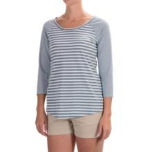 Columbia Sportswear Everyday Kenzie Shirt - 3/4 Sleeve (For Women) in Beacon Stripe - Closeouts