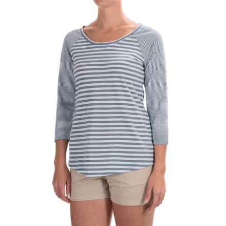 Columbia Sportswear Everyday Kenzie Shirt - 3/4 Sleeve (For Women) in Beacon Stripe - Closeouts