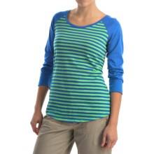 Columbia Sportswear Everyday Kenzie Shirt - 3/4 Sleeve (For Women) in Chameleon Green Stripe - Closeouts