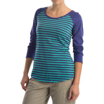 Columbia Sportswear Everyday Kenzie Shirt - 3/4 Sleeve (For Women) in Miami Stripe - Closeouts
