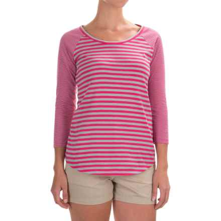 Columbia Sportswear Everyday Kenzie Shirt - 3/4 Sleeve (For Women) in Ultra Pink Stripe - Closeouts