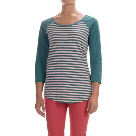 Columbia Sportswear Everyday Kenzie Shirt - 3/4 Sleeve (For Women) in Vintage Pink Stripe - Closeouts