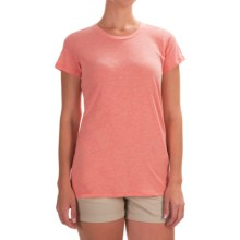Columbia Sportswear Everyday Kenzie T-Shirt - Short Sleeve (For Women) in Coral Bloom Heather - Closeouts