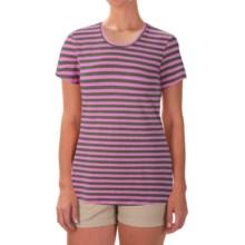 Columbia Sportswear Everyday Kenzie T-Shirt - Short Sleeve (For Women) in Cypress/Stripe - Closeouts