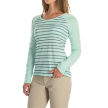 Columbia Sportswear Everyday Stripe T-Shirt - Long Sleeve (For Women) in Blueglass Heather - Closeouts