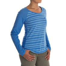 Columbia Sportswear Everyday Stripe T-Shirt - Long Sleeve (For Women) in Harbor Blue - Closeouts