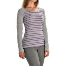 Columbia Sportswear Everyday Stripe T-Shirt - Long Sleeve (For Women) in Light Grey Heather - Closeouts