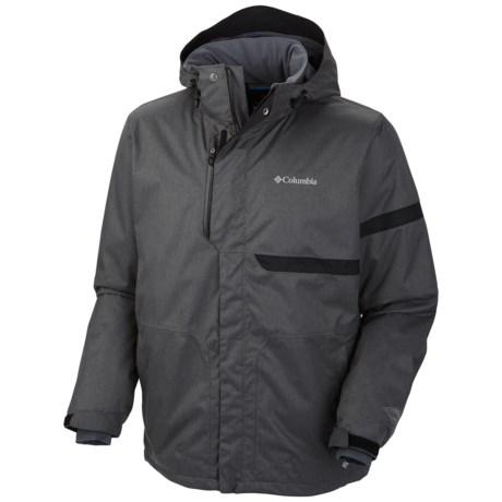 Columbia Sportswear Exact Omni-Heat® Ski Jacket - Waterproof, Insulated (For Men) in Black Broken Twill