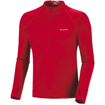 Columbia Sportswear Expedition Extreme Fleece Omni-Heat® Top - Zip Neck, Long Sleeve (For Men) in Bright Red