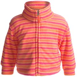 Columbia Sportswear Explorers Delight Jacket - Printed Fleece (For Infants) in Zing Stripe