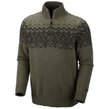 Columbia Sportswear Fair Isle Rotifer Sweater - Zip Neck (For Men) in Surplus Green Heather - Closeouts