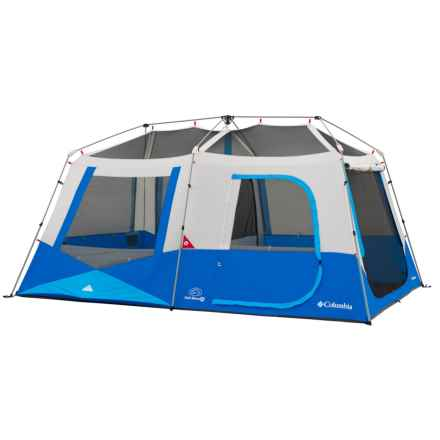 Columbia Sportswear Fall River Instant Cabin Tent - 10-Person, 3-Season in Compass Blue