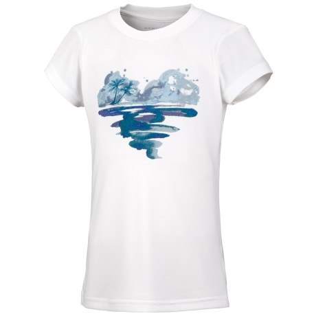 Columbia Sportswear Farewell City Graphic T-Shirt - UPF 30, Short Sleeve (For Little Girls) in White Pfg Island Heart
