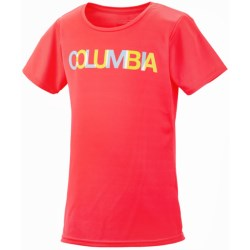 Columbia Sportswear Farewell City II T-Shirt - UPF 50, Short Sleeve (For Youth Girls) in Laser Red
