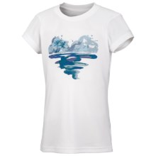 Columbia Sportswear Farewell City T-Shirt - UPF 30, Short Sleeve (For Toddler Girls) in White Pfg Island Heart - Closeouts