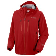 Columbia Sportswear Fast Three Shell Jacket - Waterproof, Titanium (For Men) in Intense Red - Closeouts