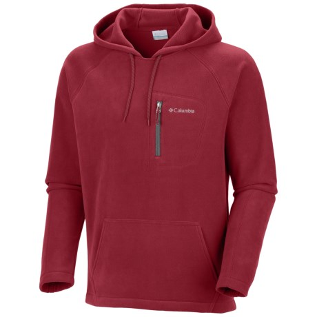 Columbia Sportswear Fast Trek Fleece Hoodie Sweatshirt (For Men) in Red Velvet
