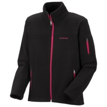Columbia Sportswear Fast Trek Fleece Jacket - Full Zip (For Girls) in Black - Closeouts