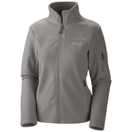 Columbia Sportswear Fast Trek II Fleece Jacket (For Plus Size Women) in Boulder