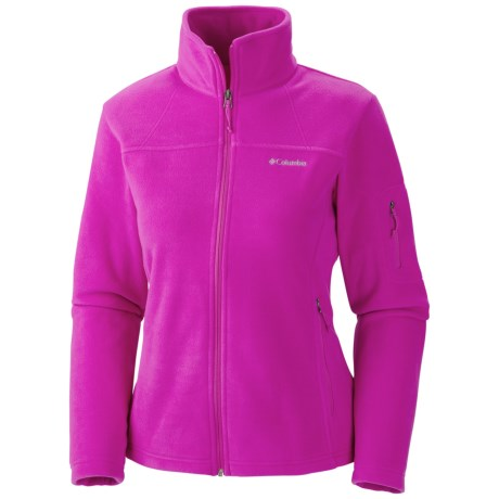 Columbia Sportswear Fast Trek II Fleece Jacket (For Women) in Groovy Pink