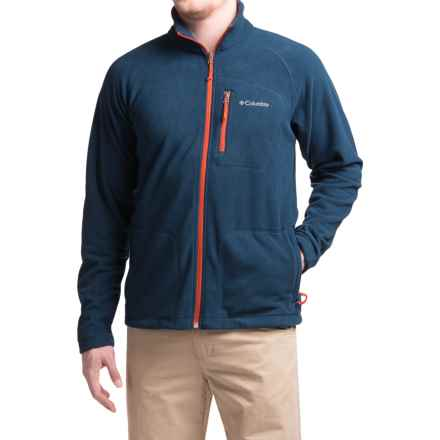 Columbia Sportswear Fast Trek II Fleece Jacket - Full Zip (For Men) in Collegiate Navy/Rust Red - Closeouts