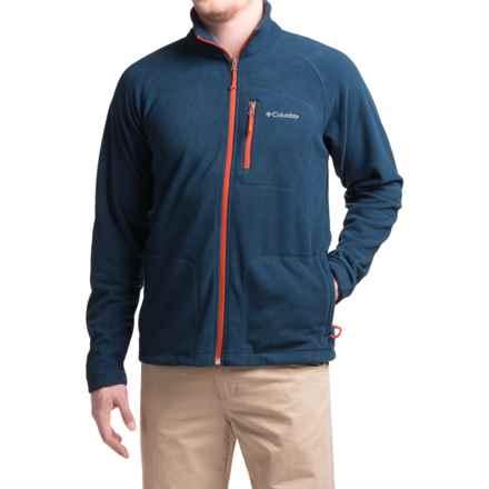 Columbia Sportswear Fast Trek II Fleece Jacket - Full Zip (For Men) in Collegiate Navy/Rust Red - Closeouts