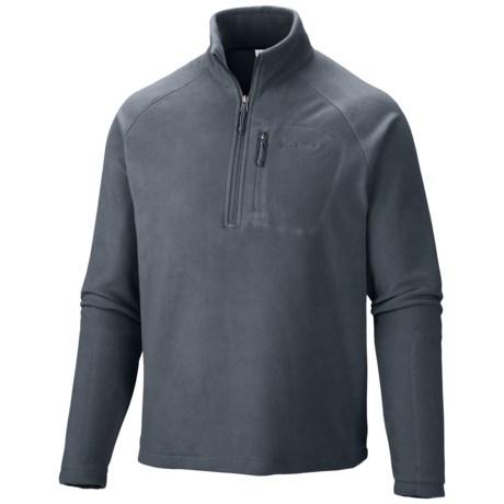 Columbia Sportswear Fast Trek II Fleece Pullover Jacket - Zip Neck (For Men) in Graphite