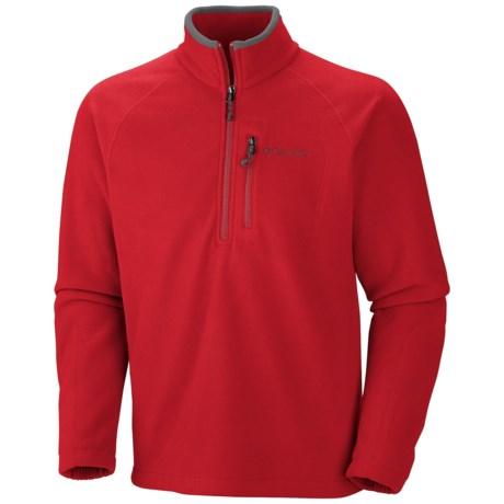 Columbia Sportswear Fast Trek II Fleece Pullover - Zip Neck (For Men) in Bright Red/Grill