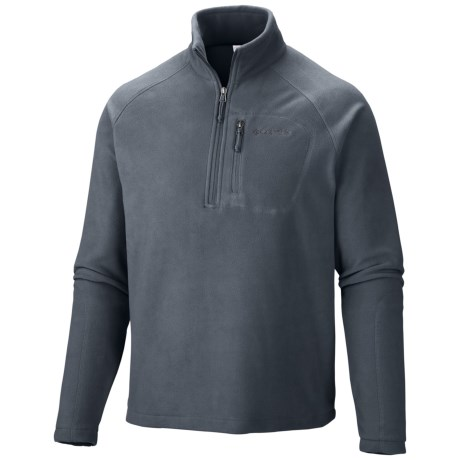 Columbia Sportswear Fast Trek II Fleece Pullover - Zip Neck (For Men) in Graphite