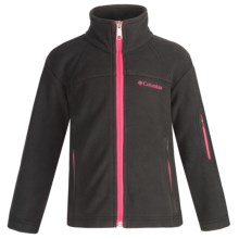 Columbia Sportswear Fast Trek Jacket - Microfleece (For Little Girls) in Black - Closeouts
