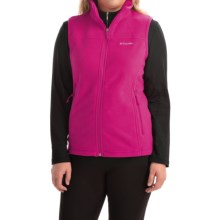 Columbia Sportswear Fast Trek Microfleece Vest - Omni-Shield® (For Women) in Haute Pink - Closeouts