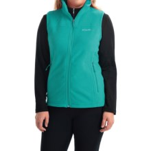 Columbia Sportswear Fast Trek Microfleece Vest - Omni-Shield® (For Women) in Miami - Closeouts