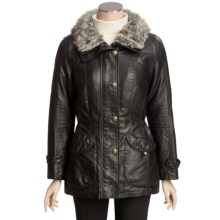 Columbia Sportswear Faux-Leather Coat - Faux-Fur Trim (For Women) in Brown - Closeouts