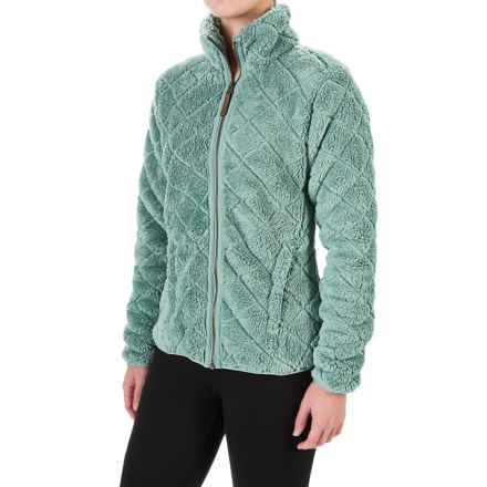 Columbia Sportswear Fire Side Sherpa Jacket - Full Zip (For Women) in Dusty Green - Closeouts