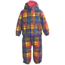 Columbia Sportswear First Snow Jacket and Bib Set (For Toddlers) in Afterglow Plaid - Closeouts
