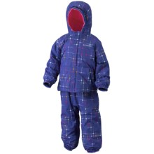 Columbia Sportswear First Snow Jacket and Bib Set (For Toddlers) in Light Grape Star Print - Closeouts