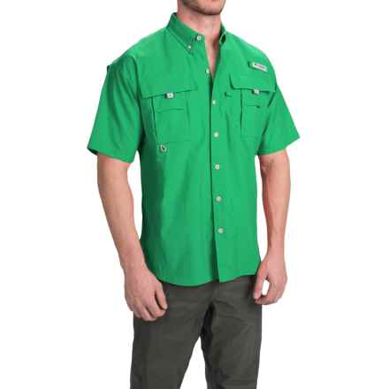 Columbia Sportswear Fishing Shirt - Bahama II, Short Sleeve (For Men) in Dark Lime - Closeouts
