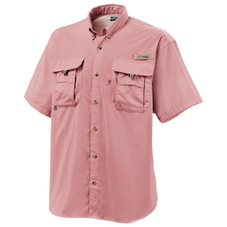 Columbia Sportswear Fishing Shirt - Bahama II, Short Sleeve (For Men) in Sorbet