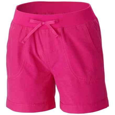 Columbia Sportswear Five Oaks Shorts - UPF 15+ (For Big Girls) in Haute Pink - Closeouts