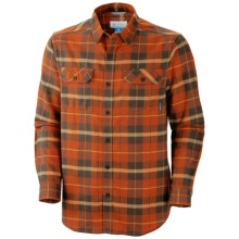 Columbia Sportswear Flare Gun Flannel III Shirt - Long Sleeve (For Men) in Backcountry Orange Plaid - Closeouts