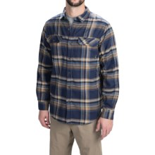 Columbia Sportswear Flare Gun Flannel III Shirt - Long Sleeve (For Men) in Nocturnal Plaid - Closeouts