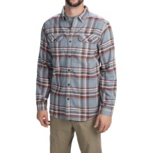 Columbia Sportswear Flare Gun Flannel III Shirt - Long Sleeve (For Men) in Tradewinds Grey Plaid - Closeouts