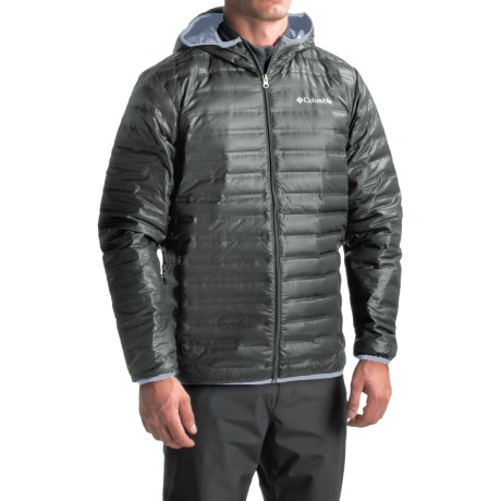 Columbia Sportswear Flash Forward Down Hooded Jacket - 650 Fill Power (For Men) in Graphite