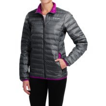 Columbia Sportswear Flash Forward Down Jacket - 650 Fill Power (For Women) in Black/Bright Plum - Closeouts