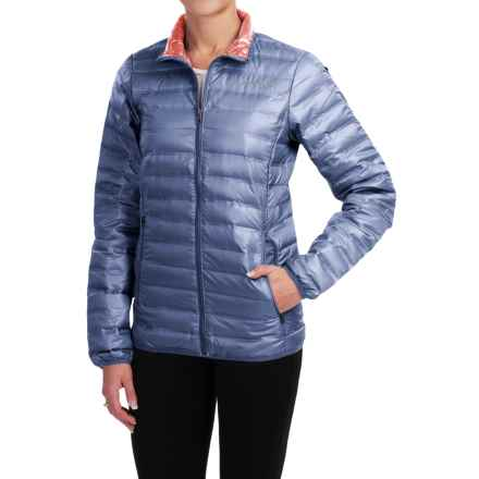 Columbia Sportswear Flash Forward Down Jacket - 650 Fill Power (For Women) in Bluebell/Hot Coral - Closeouts