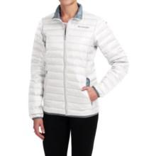 Columbia Sportswear Flash Forward Down Jacket - 650 Fill Power (For Women) in White/Tradewinds Grey - Closeouts